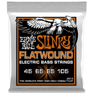 ERNIE BALL 2813 Slinky Flatwound Bass 45-105 Kobalt. Saiten für 4-String E-Bass
