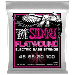 ERNIE BALL 2814 Slinky Flatwound Bass 45-100 Kobalt. Saiten für 4-String E-Bass