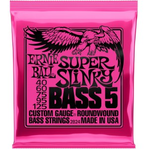 ERNIE BALL 2824 Slinky Bass Super 40-125 Nickel plated Steel. Saiten 5-String für Bass