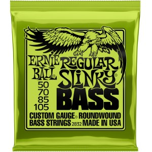 ERNIE BALL 2832 Slinky Bass Regular 50-105 Nickelwound Steel. Saiten 4-String für Bass