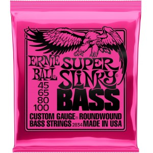 ERNIE BALL 2834 Slinky Bass Super 45-100 Nickelwound Steel. Saiten 4-String für Bass