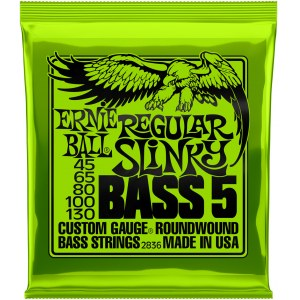 ERNIE BALL 2836 Slinky Bass Regular 45-130 Nickelwound Steel. Saiten für 5-String E-Bass
