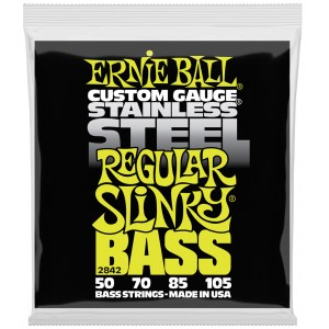 ERNIE BALL 2842 Slinky Bass Regular 50-105 Stainless Steel. Saiten für 4-String E-Bass