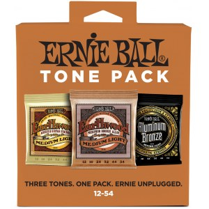 ERNIE BALL 3313 Acoustic Tone Pack Regular 012-054 3-Pack, Saiten für Westerngitarre