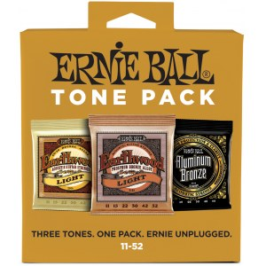 ERNIE BALL 3314 Acoustic Tone Pack Light 011-052 3-Pack, Saiten für Westerngitarre