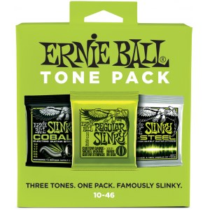 ERNIE BALL 3331 Electric Tone Pack Regular 010-046 3-Pack, Saiten für E-Gitarre