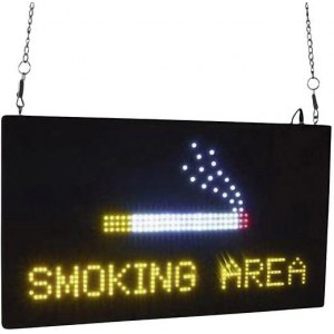 EUROLITE LED Schild Smoking Area Hinweisschild