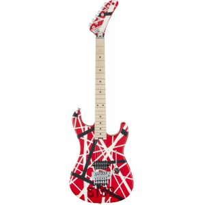 EVH Striped Series 5150 R/B/W E-Gitarre inkl. Gigbag, red/black/white