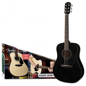 FENDER CD-60 BLK Acoustic Pack Dreadnought Akustik-Gitarren Starterset, black