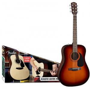 FENDER CD-60 SB Acoustic Pack Dreadnought Akustik-Gitarren Starterset inkl. DVD, sunburst