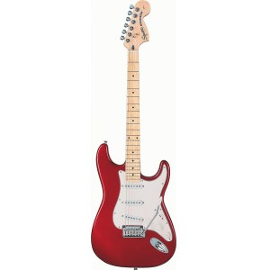 FENDER Squier Standard Stratocaster MN CAR E-Gitarre inkl. Gigbag, candy apple red
