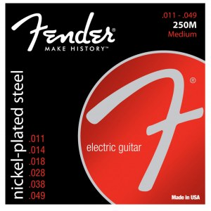 FENDER 250M Super 250s Medium 011-049 Saiten für E-Gitarre. Nickel Plated Steel.