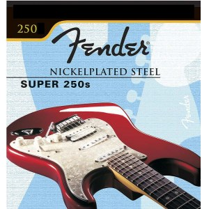 FENDER 250LR Super 250s Light Regular 009-046 Saiten für E-Gitarre. Nickel Plated Steel.