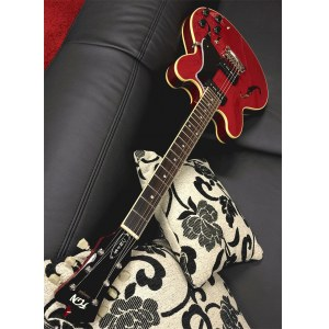 FGN Masterfield P90 RW FTR Hollowbody E-Gitarre inkl. Gigbag, flamed trans red