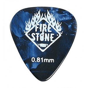 FIRE&STONE 351 Celluloid Pick 0,81mm blue pearl Plektrum (Stück)