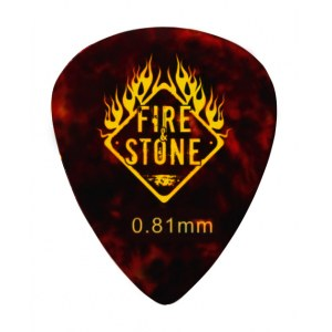 FIRE&STONE 351 Celluloid Pick 0,81mm shell Plektrum (Stück)