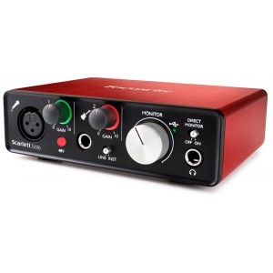 FOCUSRITE Scarlett Solo 2nd Gen USB Audio-Interface inkl. Software-Suite