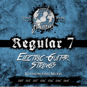FRAMUS 45220 REG 7 010/064 Regular Blue Label Nickelplated Round Wound. Saiten 7string E-Gitarre