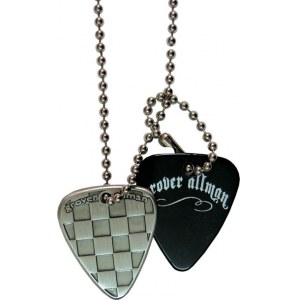 GROVER ALLMAN Pick Pendant Necklace Checker Halskette im Dogtag-Stil