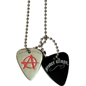 GROVER ALLMAN Pick Pendant Necklace Anarchy Halskette im Dogtag-Stil