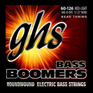 GHS 3045 Bass Boomers Light 060-126 BEAD Tuning Nickel Roundwound Steel. Saiten für E-Bass
