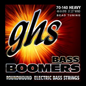 GHS 3045 Bass Boomers Heavey 070-140 BEAD Tuning Nickel Roundwound Steel. Saiten für E-Bass