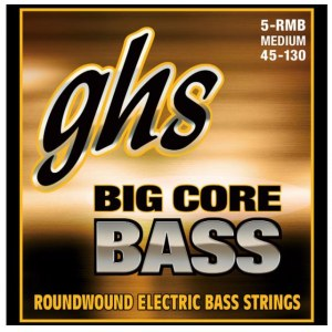 GHS 5-RMB BC Big Core Bass 5-String 045-130 Roundwound. Saiten für E-Bass