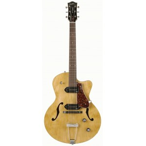 GODIN 5th Avenue Kingpin 2xP90 RW NT Hollowbody Semi-Akustik E-Gitarre inkl. Gigbag, nature