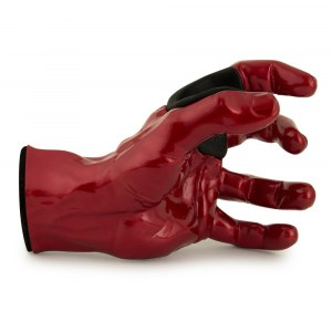 GUITARGRIP Red Metallic Male Hand left Gitarren-Wandhalter / DEFEKT