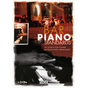 HAGE Bar Piano Standards - mittelschwer /2CD EH 3703, 40 Songs für Klavier
