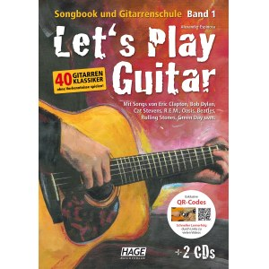 HAGE Lets Play Guitar 1 /CD/DVD EH 3757, Songbook und Gitarrenschule