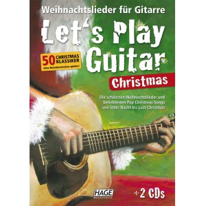 HAGE Lets Play Guitar Christmas /2CD EH 3799, 50 Christmas Klassiker ohne Noten