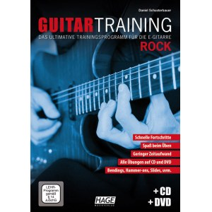 HAGE Guitar Training Rock /CD/DVD EH 3931, Trainingsprogramm für die E-Gitarre