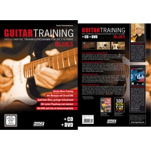 HAGE Guitar Training - Blues /CD/DVD EH 3932, Trainingsprogramm für die E-Gitarre