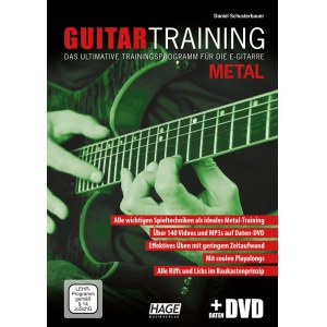 HAGE Guitar Training Metal /CD/DVD EH 3933, Trainingsprogramm für die E-Gitarre