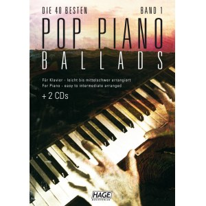 HAGE Pop Piano Ballads 1 /CD EH 3711, 40 bekannte Pop Balladen