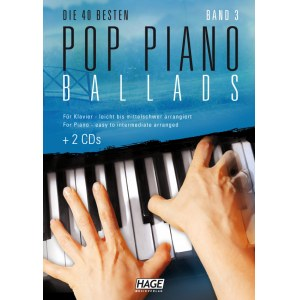 HAGE Pop Piano Ballads 3 /2CD EH 3859, 40 bekannte Pop Balladen