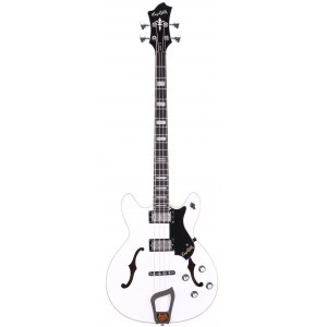 HAGSTROM Viking Bass 4 -02 Vintage Hollowbody E-Bass, white gloss
