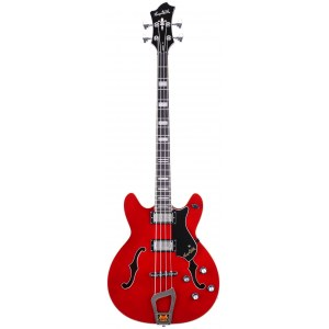 HAGSTROM Viking Bass 4 -04 Vintage Hollowbody E-Bass, wild cherry transparent