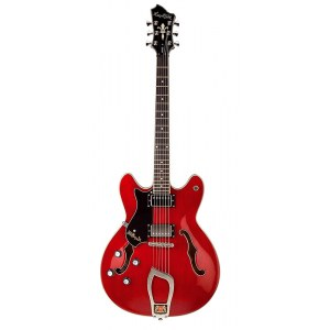HAGSTROM Viking Lefthand -04 L/H Hollowbody E-Gitarre, cherry