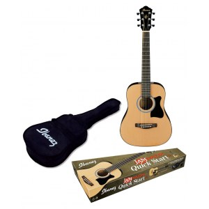 IBANEZ IJV30-NT Dreadnought Startpaket Akustikgitarre 3/4, natural high gloss