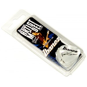 IBANEZ B-1000 PG-PW Plektren Heavy 1mm (6er Pack) Paul Gilbert Signature Picks, weiss