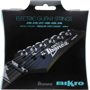 IBANEZ IEGS61MK Electric Guitar Light 010-046 Nickel Wound Saiten für Mikro E-Gitarre