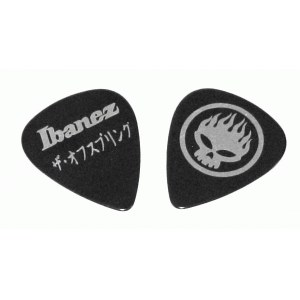 IBANEZ OS-BK Plektren Heavy 1mm (Stück) The Offspring Signature Pick, schwarz