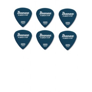 IBANEZ PPA16MRG-DB Flat Pick Rubber Grip 0,8mm Flat Pick Rubber Grip, blau (6Stück)