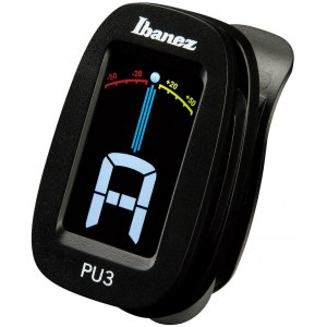 IBANEZ PU3-BK Clip-On Tuner mit LCD Display, schwarz