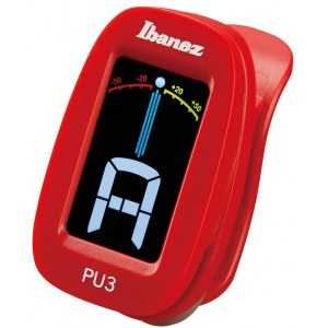 IBANEZ PU3-RD Clip-On Tuner mit LCD Display, rot