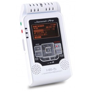 JAMMIN HR-5 WH Handheld Stereo Linear PCM Recorder, weiss