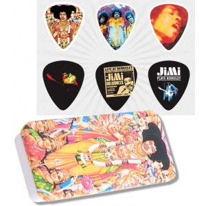 JIM DUNLOP Hendrix Collector Bold as Love Box Collector Plektren, medium (6 Stück) - JHPTR02