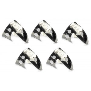 JIM DUNLOP 33P Nickel Silver Finger Thumbpick 0225 Plektren Player Pack (5 Stück)